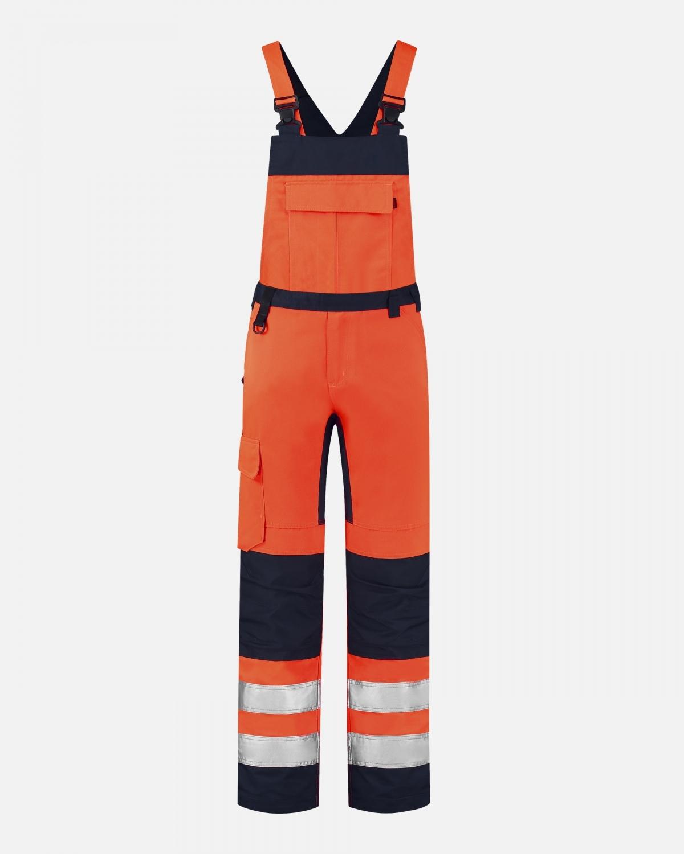 mannequin foto van fluor oranje overall van tricorp
