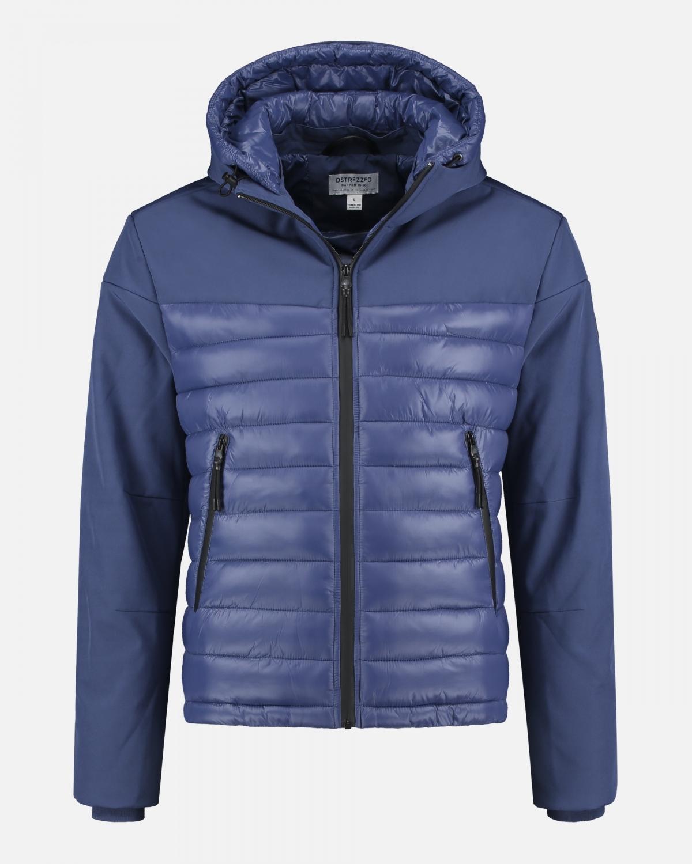 mannequin foto van blauwe jas van Dstrezzed