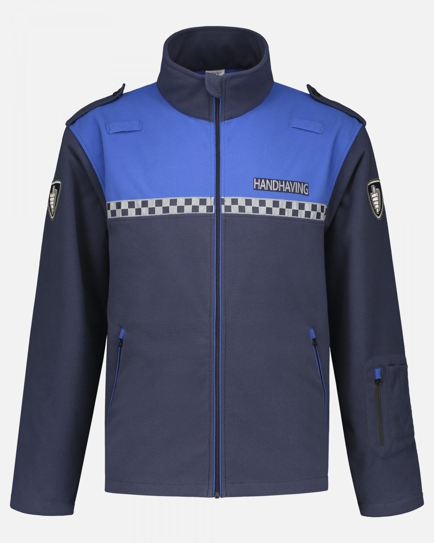 mannequin foto van blauw handhaving jas